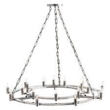 arteriors kaylor vintage silver fixed chandelier in silver