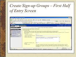 Create Sign Up Sheet Webct Ce 6 Group Manager Working With Groups In Webct Ce 6 You