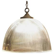 ribbed glass dome light at 1stdibs