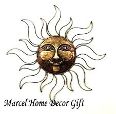 large sun face wall art outdoor metal sun face decoration wall hanging home and garden decor art ceramic