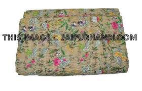 Queen kantha bedspread kantha quilt Throw blanket & Queen kantha bedspread kantha quilt Throw blanket-Jaipur Handloom ... Adamdwight.com