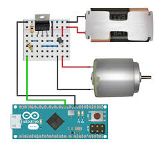 robots big data arduino motor docs a motor wired to a low side switch a battery pack and an