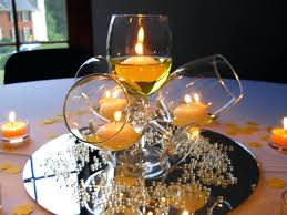 glass centerpiece ideas and fabulous surprise party decor yellow party glass round glass bowl centerpiece ideas