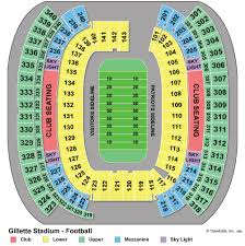 Gillette Interactive Seating Chart Factual Gillette Stadium Seating Chart For Kenny Chesney