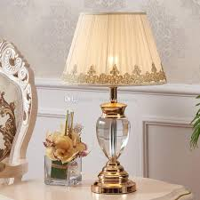 2019 white table lamp modern bedside tables crystal lighting study room wedding table lights fabric cover modern table lamp bedroom from zhiguanglighting