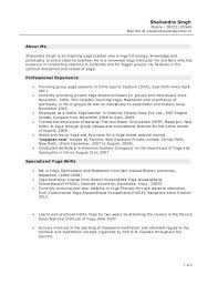 Yoga Teacher Resume Yoga Teacher Resume Examples Instructor Download Objective