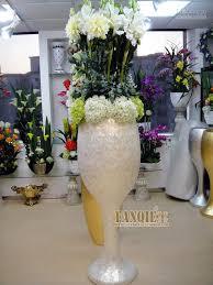 Large floor vase set artificial flower modern fashion flower holder shell  decoration
