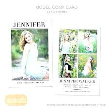Cool Zed Cards Get Free Comp Card Templates On Sign Up To