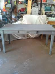 White gray solid wood office Executive Beehiveschoolcom Large Solid Wood Gray Desk For Sale In Apopka Fl Offerup