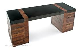 modern rustic desk sustainable office furniture