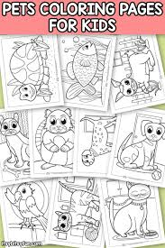 From the mouse to the elephant. Pets Coloring Pages For Kids Itsybitsyfun Com