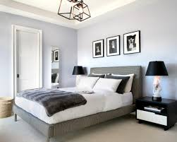 This Soft Gray Modern Bedroom Features Black And White Accessories