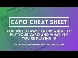 Capos The Capo Cheat Sheet Youtube