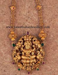 Temple Jewellery Locket Designs Temple Jewellery With Nakshi Pendant Temple Jewellery