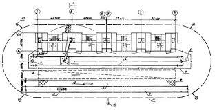 Типовая технологическая карта на монтаж строительных конструкций  1 башенный кран КБ 405 1А 2 подкрановый путь 3 ограждение подкранового пути 4 контур заземления 5 контрольный груз 6 временная автодорога