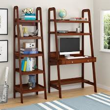 the attractive and practical platform wood veneer ladder desk is perfect for rooms where space is at a premi