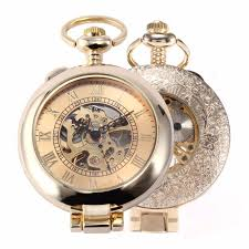 online buy whole antique mens gold pocket watch from men skeleton steampunk mechanical pocket watch witch chain christmas gifts antique mecklace watch rose gold pocket