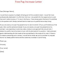 pay raise letter samples pay increase letter military bralicious co