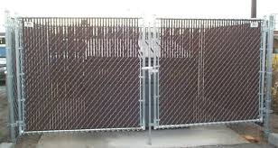 chain link fence double gate. Double Drive Commercial Gate By The Valley Hospital Off Mission Chain Link Fence