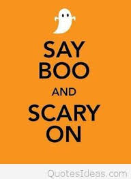 say boo halloween is coming be scary