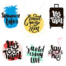Design T Shirt Quotes Summer Prints With Hand Lettering Quotes Ready Design For T Shirts Bags Photo