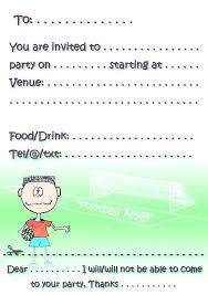 Football Party Invitations Templates Free Idea Football Party Invitation Template Free For Soccer Birthday