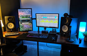 Shelving units converted into tv stands; How To Build A Basic Music Studio Desk With Ikea Parts Northvice