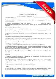 Limited Partnership Agreement Template Template Dissolution Partnership Agreement Template Of Simple