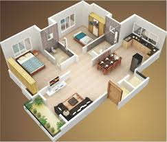 astonishing charming two bedroom simple house plan 3d ideas with al basement impressive principles simple two bedroom house plans 3d