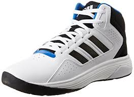 adidas basketball shoes white. adidas neo men\u0027s cloudfoam ilation mid white, black and matte silver basketball shoes - 7 white a