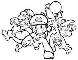Small Picture Mario Coloring Pages Super Mario Galaxy Boys Coloring Pages
