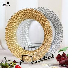 whole weddings braid gold glass charger plate glass plate braid gold glass charger plate dinner plate with 4 73 piece on shanxiholy s
