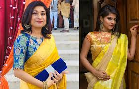 Boat Neck Blouse Designs For Saree 35 Stylish High Neck Blouse Designs For Pattu Sarees Bling