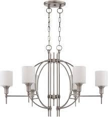 craftmade 37276 an meridian contemporary antique nickel chandelier light loading zoom