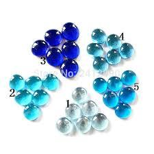 decorative glass beads for vase blue mixed color pebbles fish tank aquarium floor wall marbles vases