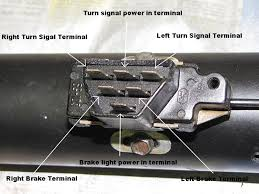 electrical problem 348 409 com info exchange forum notice in the picture above the turn signals get power via the center terminal in the top row when you move the turn signal lever down for a right turn