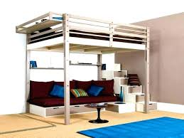 full size bunk bed with desk. White Bed With Desk Bunk Full Size Loft Stairs Furniture Beds Black D