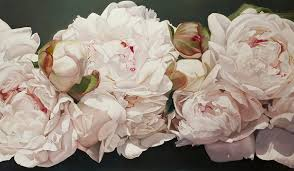 pink painting pink white peonies oil painting by thomas darnell