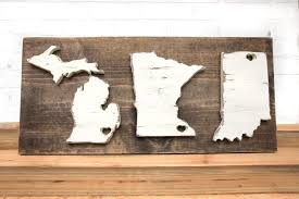 custom made large wood state sign 3 states custom state sign home state
