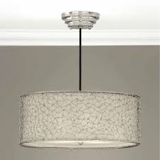 3 light drum pendant uttermost silver white