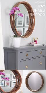 Diy mirror frame ideas Bathroom Mirror Tray Turned Round Diy Mirror Frame Idea Diy Home Decor 15 Incredible Diy Mirror Frame Ideas To Make Your Home Creative
