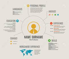 Free Resume Cv Web Templates Resume Web Infographic Template Cv With World Map And Icons 81