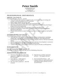 Resume For Retail Jobs Sample Resume Letters Job Application