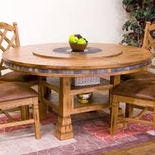 designs sedona table top base: sunny designs ro sedona quot round table with lazy susan in rustic oak