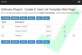 Sample Task List Template Project Management Create A Task List Spreadsheet In Excel