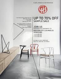 carl hansen s n hosts a floor sample sale