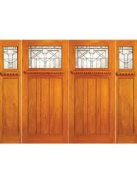 arts and crafts front doors. mahogany craftsman style double door and two sidelites, made byaaw ,sku:ac- arts crafts front doors