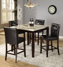 Marble Top Kitchen Table Set Counter Height Faux Marble Top Modern Dining Table W Options