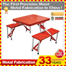 small pastic folding foldable camping and picnic table and chairs set in china