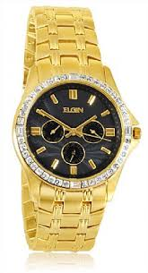 elgin gold watches best watchess 2017 elgin fg152n men s swarovski crystal accented case gold tone